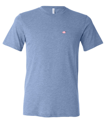 Bella+Canvas Unisex Circle Logo Tee - Blue