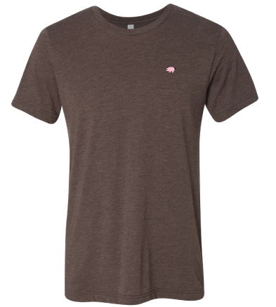 Bella+Canvas Unisex Circle Logo Tee - Brown