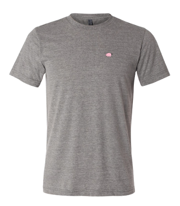 Bella+Canvas Unisex Circle Logo Tee - Sport Grey