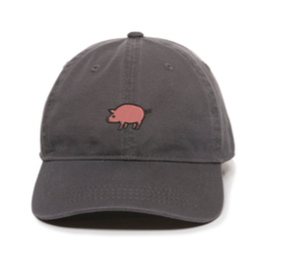 Unstructured Garment Washed Cap - Charcoal