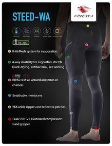 STEED-WA Men Padded Tights