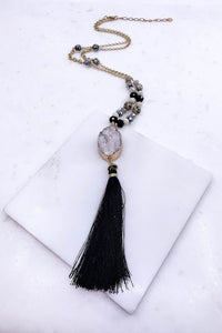Druzy Tassel Necklace