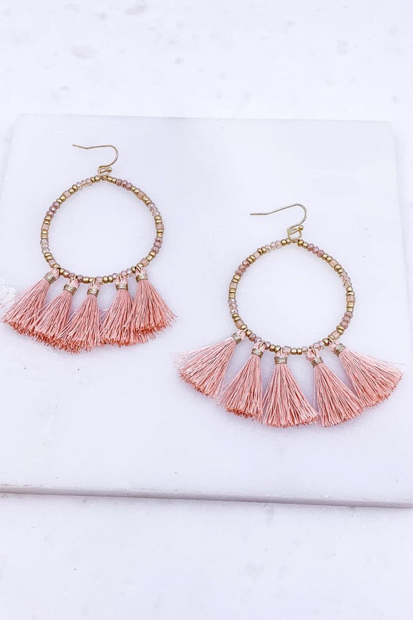 Sunshine Tassel Earrings