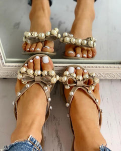 Jelly Pearl Bow Sandal