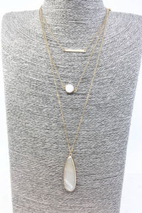 Druzy Layered Necklace