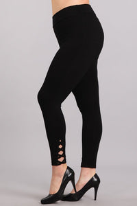 Lace Up Plus Legging