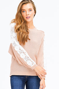Blushing Lace Sweater