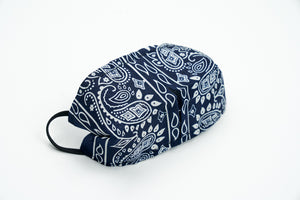 Blue Paisley Facemask