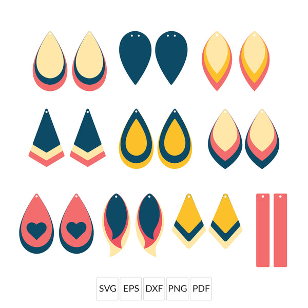 Best Sellers Faux Leather Earrings SVG File Bundle - Special Offer