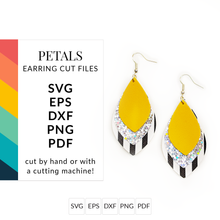 Load image into Gallery viewer, Teardrop & Petal Faux Leather Earrings SVG Cut Files for Cricut & Silhouette