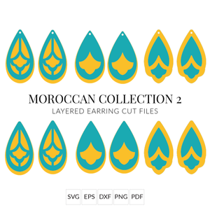 Moroccan Collection 2 Stacked Earrings SVG Cut File for Cricut & Silhouette