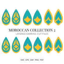 Load image into Gallery viewer, Moroccan Collection 2 Stacked Earrings SVG Cut File for Cricut & Silhouette