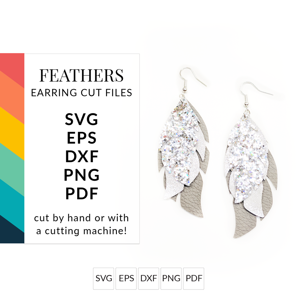 Feather Earrings SVG File