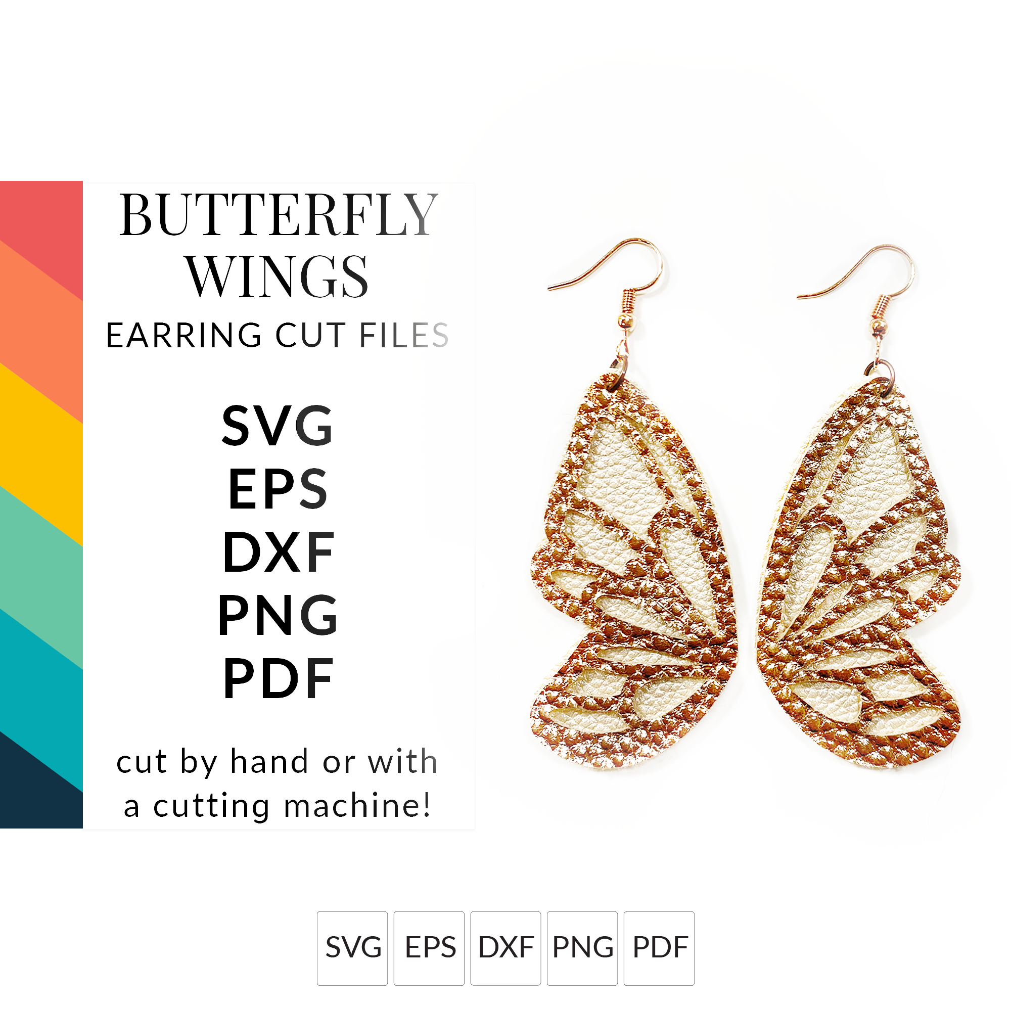 Butterfly Wings Earring SVGs Earring Templates SVG Cut Files for Cricut & Silhouette
