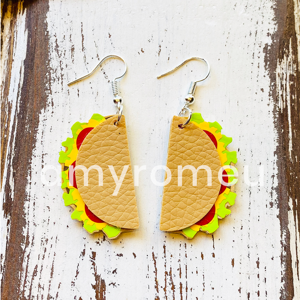 Taco Earrings SVG Cut File for Cricut & Silhouette