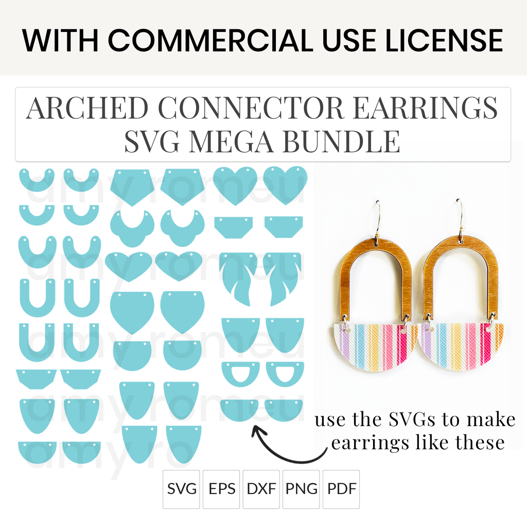 Arched Connector Earrings SVG Mega Bundle with Commercial Use License