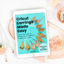 Load image into Gallery viewer, Cricut Earrings Made Easy Workbook & Template Bundle by Amy Romeu
