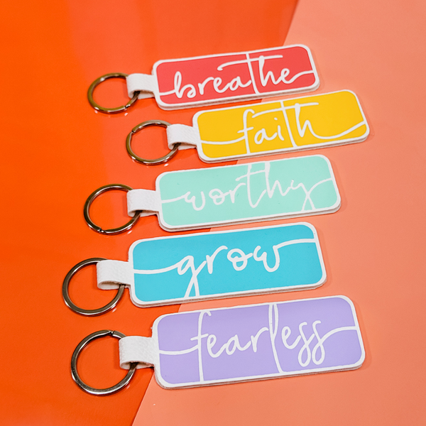Word of the Year Keychain - RESILIENT - Single Word SVG Template