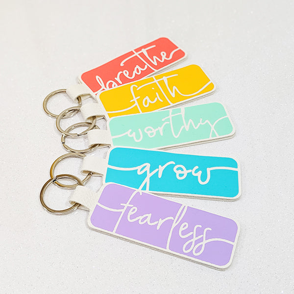 Word of the Year Keychain - GROW - Single Word SVG Template
