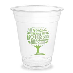 100% Compostable Plant Based Clear Cup | 16 Ounce Party Cups | 50 Cups