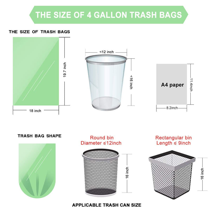 3 gallon non-plastic plant-based bags