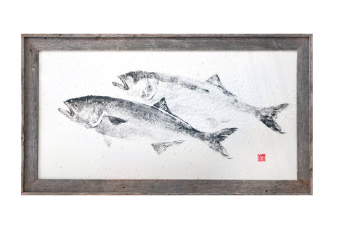 Double Bluefish Original Print