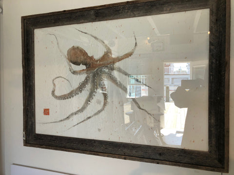 Original Octopus Print - Framed