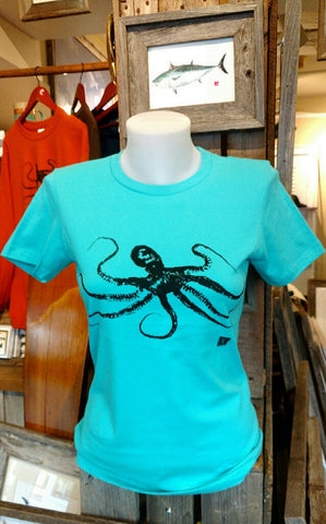 Women's cut October Octopus Shirts