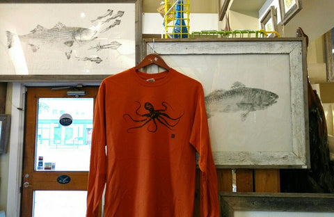 Long sleeve October Octopus Shirts