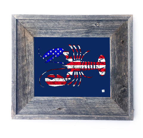 16 x 13 Framed USA Lobster