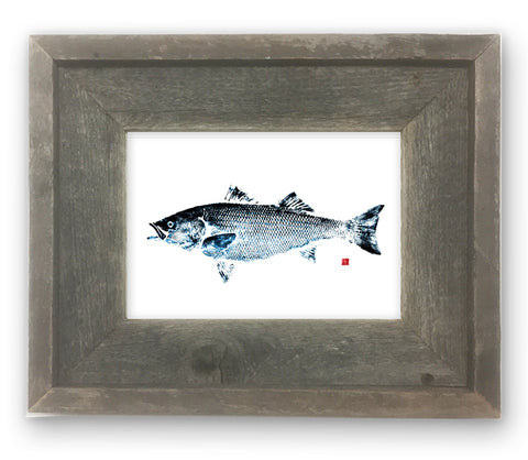 Small Framed Striped Bass- Blue tint