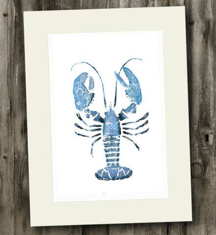 11x 14 Blue Lobster Gyotaku Archival Print