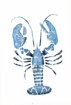 17 x 22 Blue Lobster Gyotaku Archival Print