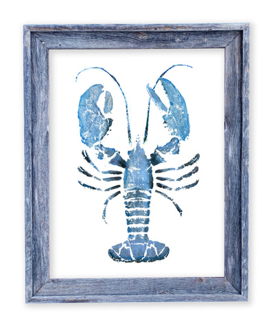 26 x 22 framed blue lobster