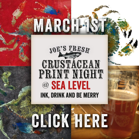 March 1st Fish Print Night at Sea Level