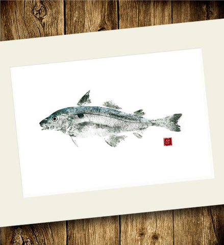 Copy of 18 x 24 Limited Edition Haddock Gyotaku Archival Print
