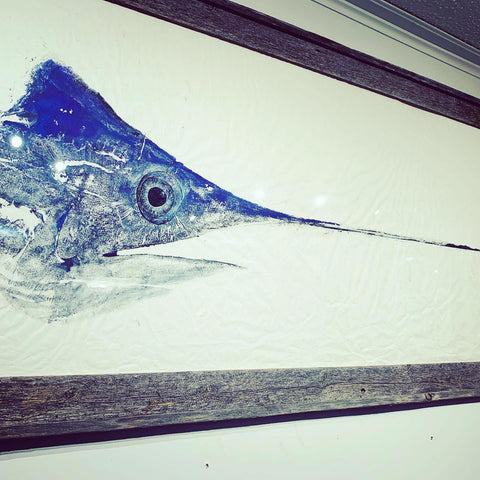 Swordfish head