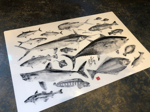 Fish of North Atlantic placemat