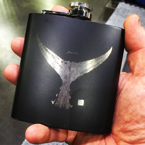 Tuna Tail Whiskey Flask