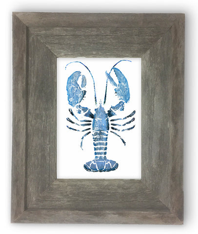 Small Framed light blue lobster