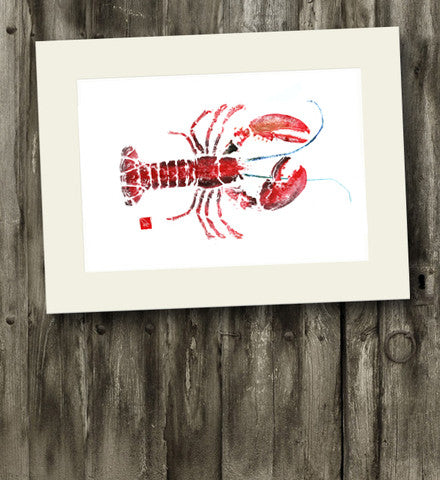 14 x11 Lobster Gyotaku Archival Print