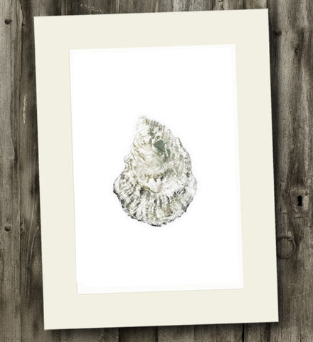 11 x 14 Wianno Oyster Gyotaku Archival Print