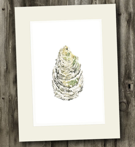 11 x 14 Oyster Gyotaku Archival Print