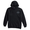 Wicked Boston  60/40 Tuna tail Hoodie- Fished impressions logo on front