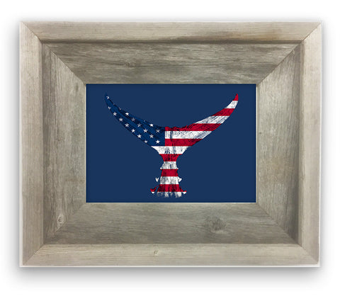 Small Framed American flag Tuna tail