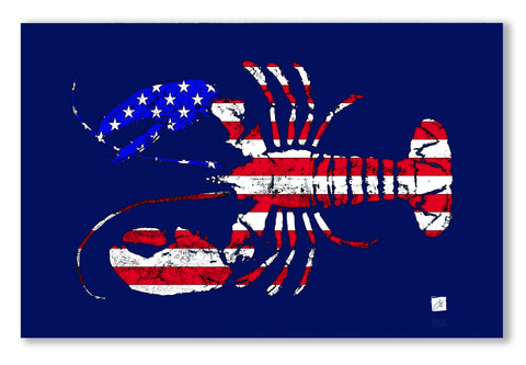 Patriotic Flag Lobster Placemat