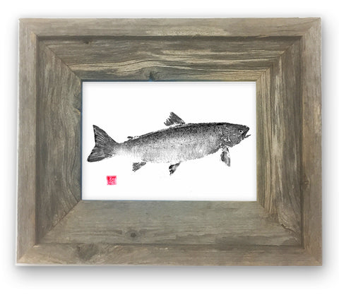 Small Framed Salmon