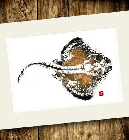 24x18 Limited Edition Skate Gyotaku Archival Print