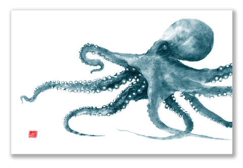 Teal Octopus Placemat
