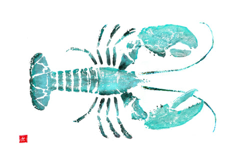 Teal lobster placemat